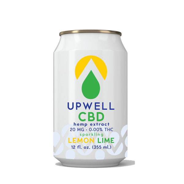 upwell beverages lemon lime cbd water