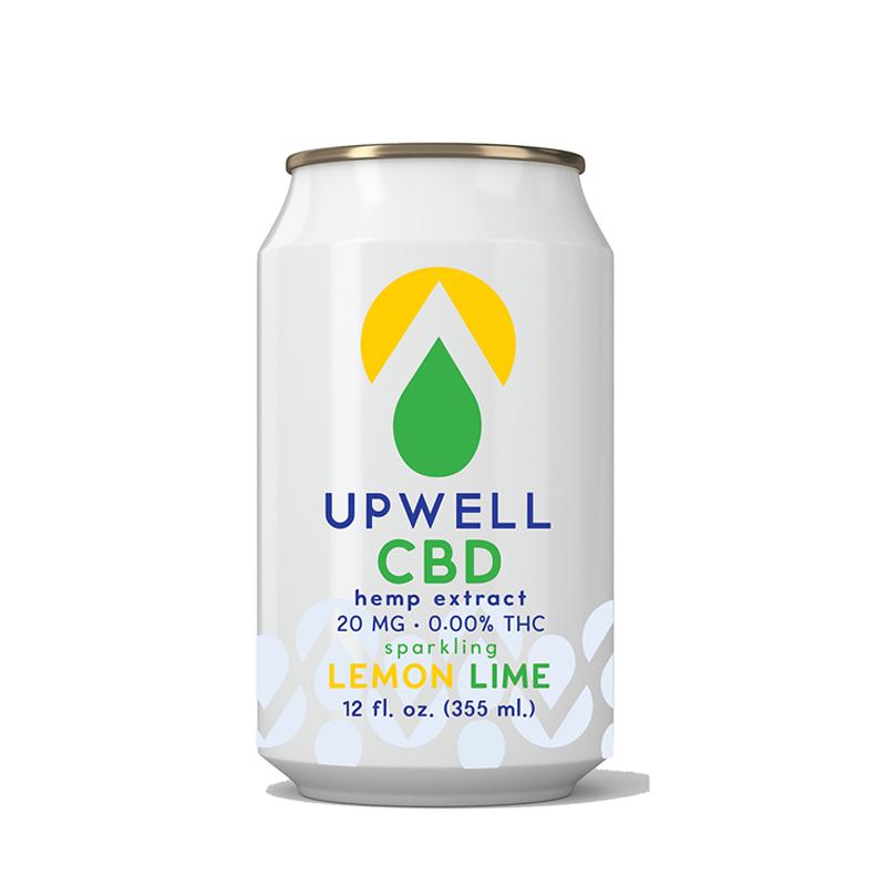 upwell lemon lime cbd water
